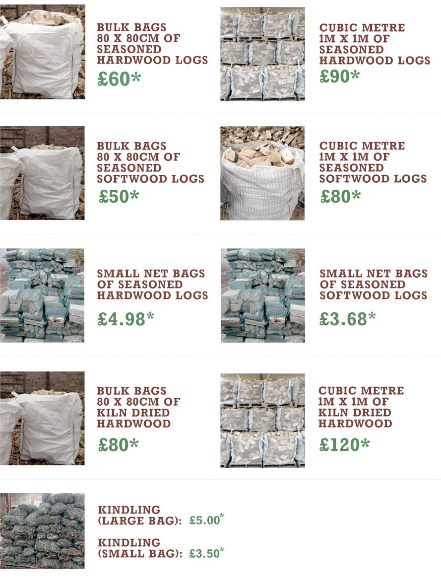 Broadleaf Wood Fuel prices for firewood