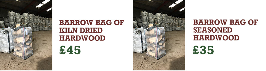 Barrow bags of wood available